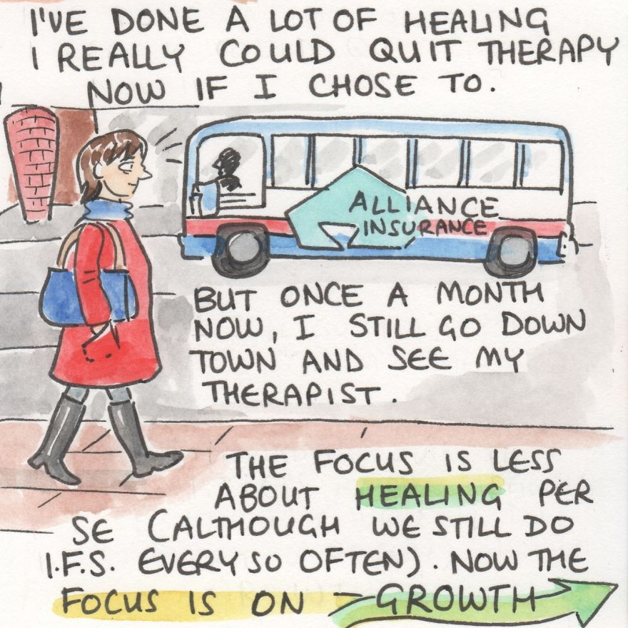 I Illustrate My Therapy Process To Show People It Can Get Better (10 Pics)