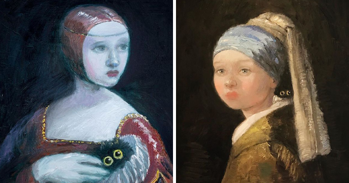 This Artist Can Sneak Her Cats Into Any Painting And It's Hilarious