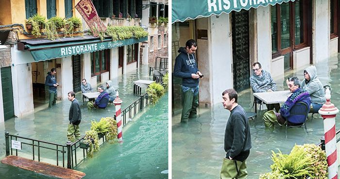 Photographer Spends A Whole Day In Flooded Venice, Captures Just How Different The City Looks (19 Pics)