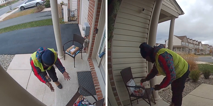 Homeowner Leaves Snacks For Amazon Delivery Guy And His Reaction Is Too Pure