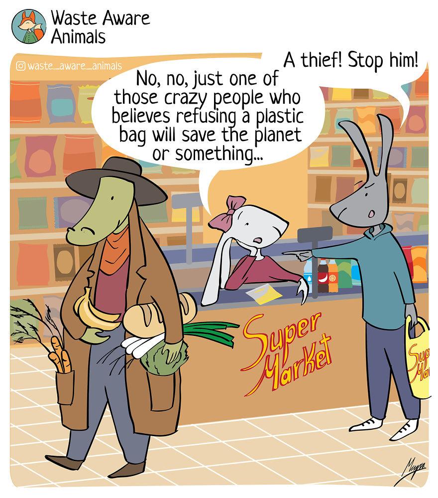 I Create A Comics To Share My Funny Struggle With Zero Waste Living