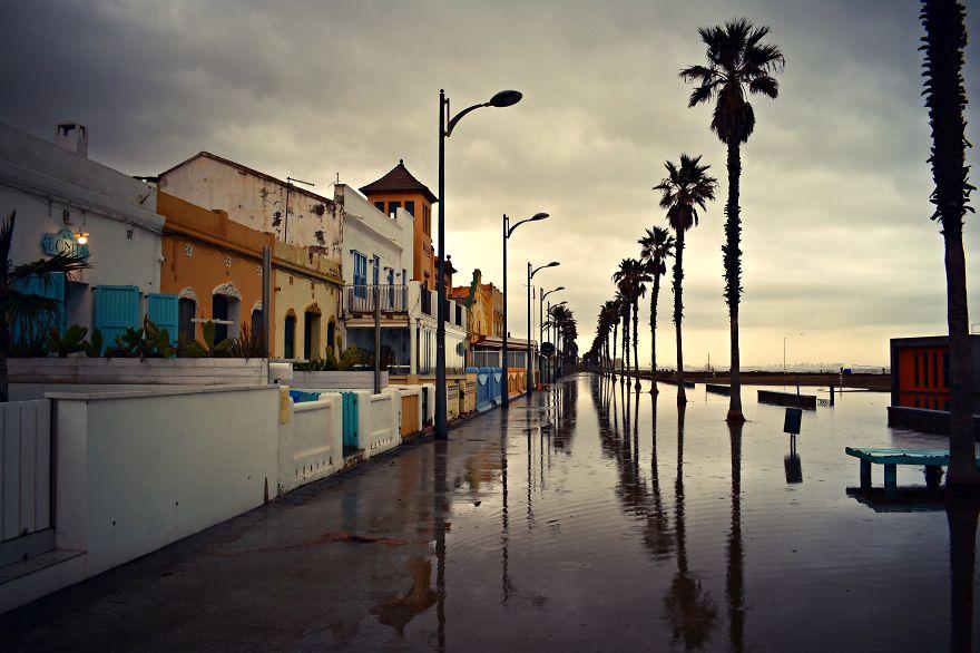The Promenade At Patacona Eerily Empty