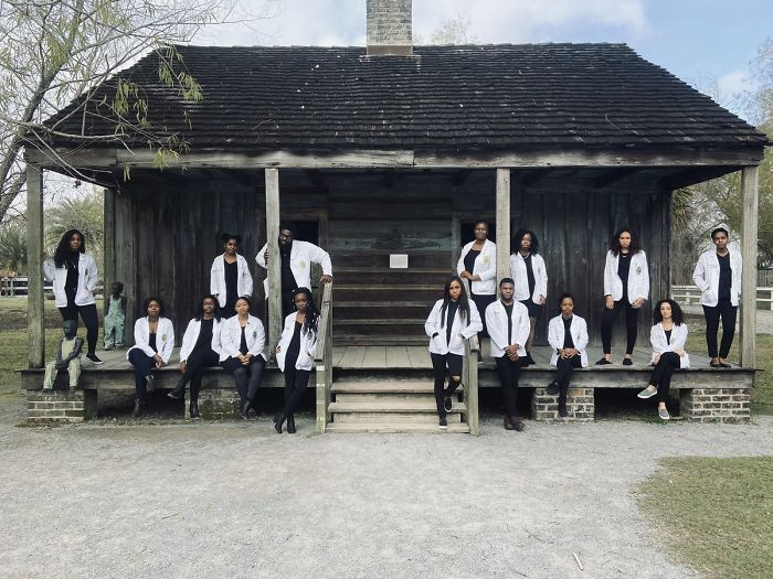 Standing In Front Of The Slave Quarters Of Our Ancestors, At The Whitney Plantation, With My Medical School Classmates. We Are Truly Our Ancestors' Wildest Dreams