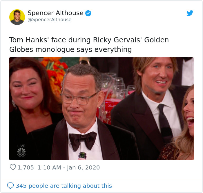 Hollywood Did Not Appreciate Ricky Gervais Roasting Them With His Golden Globes Monologue