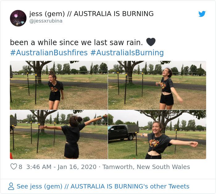 1217654213406150656 png  700 - Finalmente chove forte na Austrália, apagando mais de 30 incêndios mortais