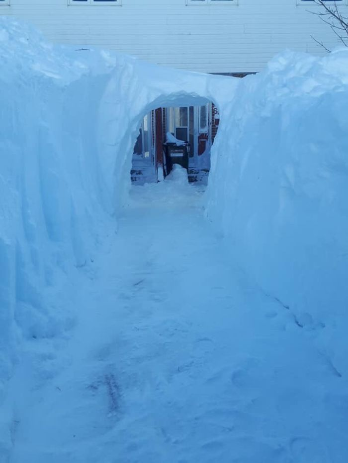 You Know The Snow Is Deep When You Can Have A Tunnel Going To Your Front Door