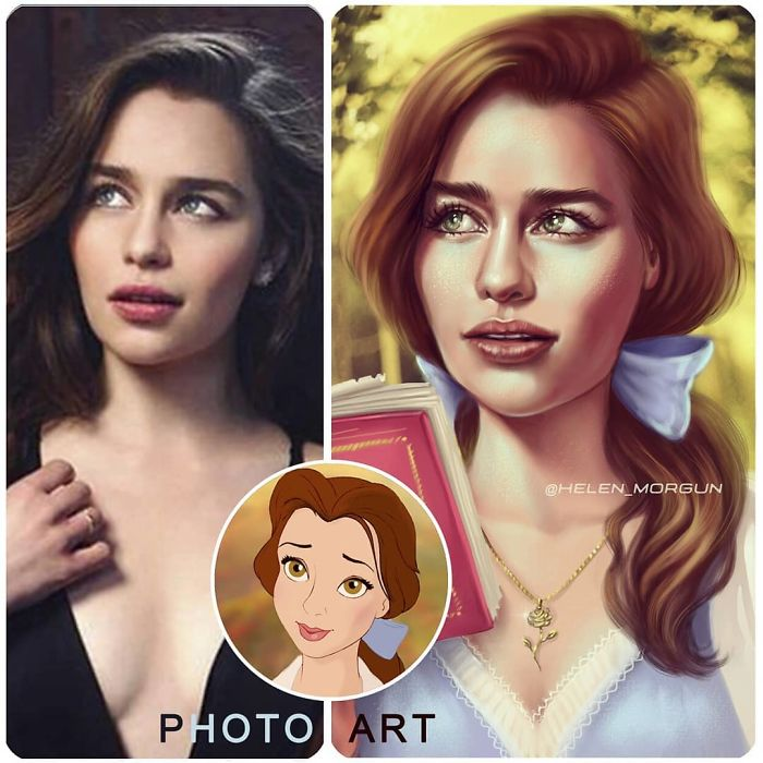 Emilia Clarke As Belle