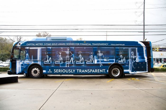 Seriously Transparent Capital Metro Buses