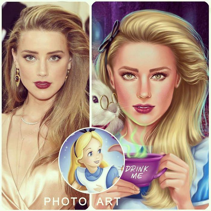 Amber Heard As Alice In Wonderland