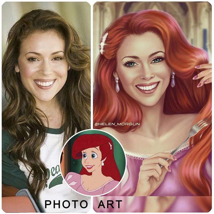 Alyssa Milano As Ariel