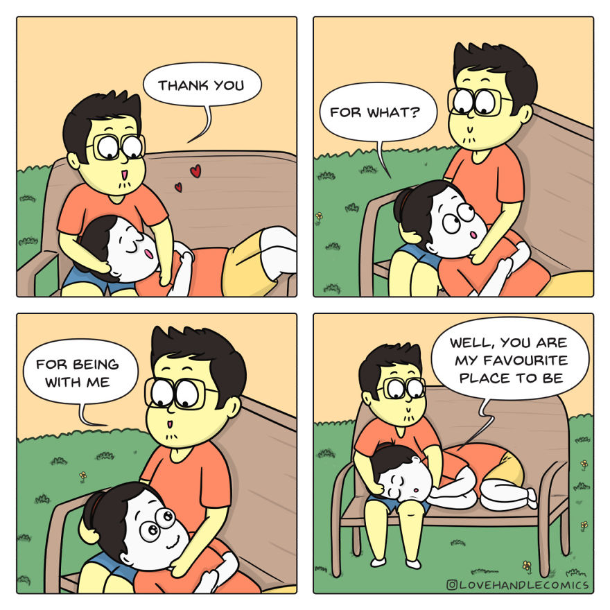 20 Comics Illustrating The Daily Moments From Our Relationship