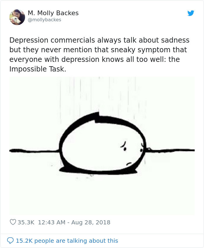 Woman Explains A Lesser Known Symptom Of Depression And People Are Thanking Her