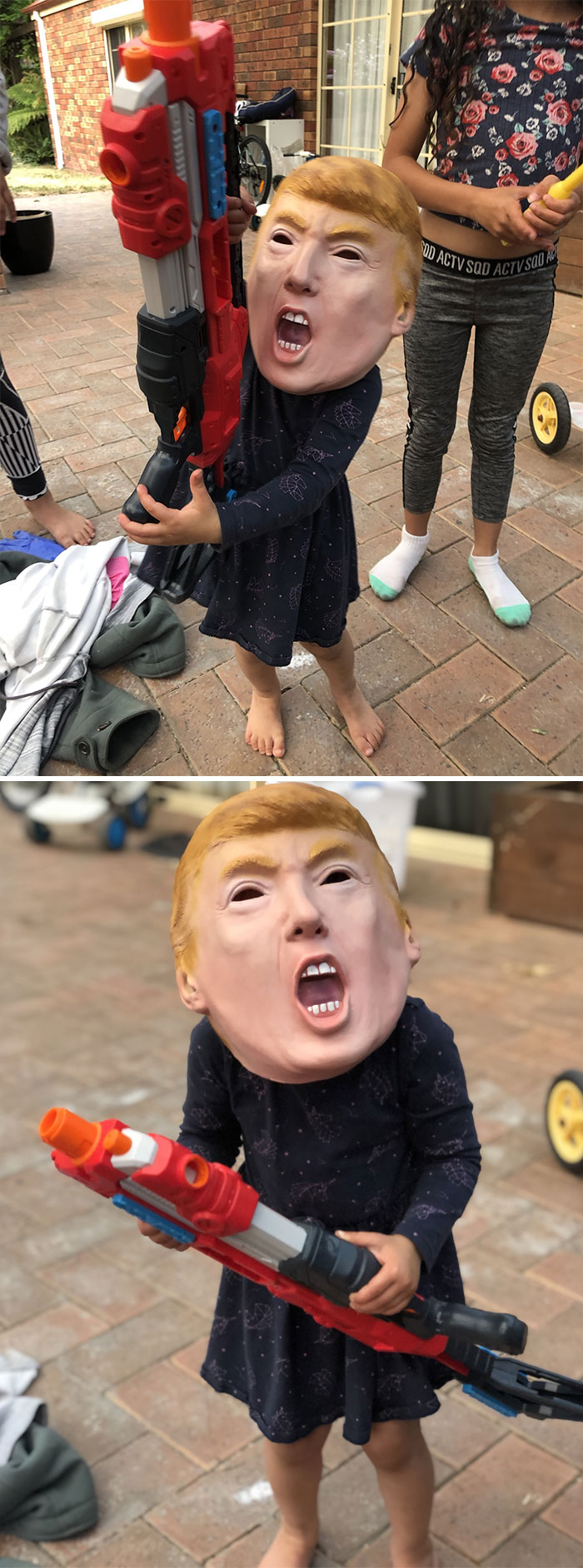 Got A $1 Trump Mask At A Yard Sale In Australia. My God I Have Never Got Such Comedic Value From A Sale