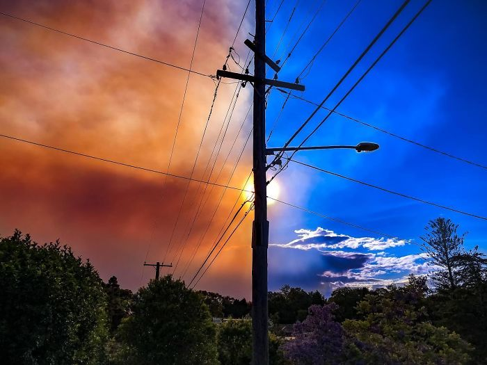 Caught The Smoke As It Was Spreading Over Our Suburb In Australia
