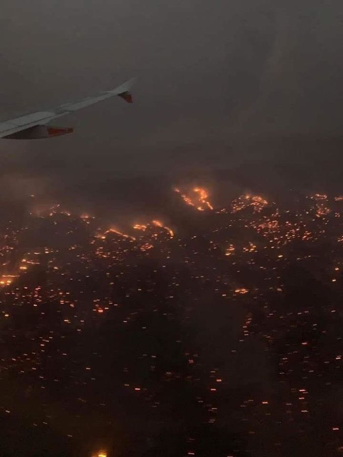 A Picture Of The Fires Burning In Australia Right Now. It Looks Like Hell