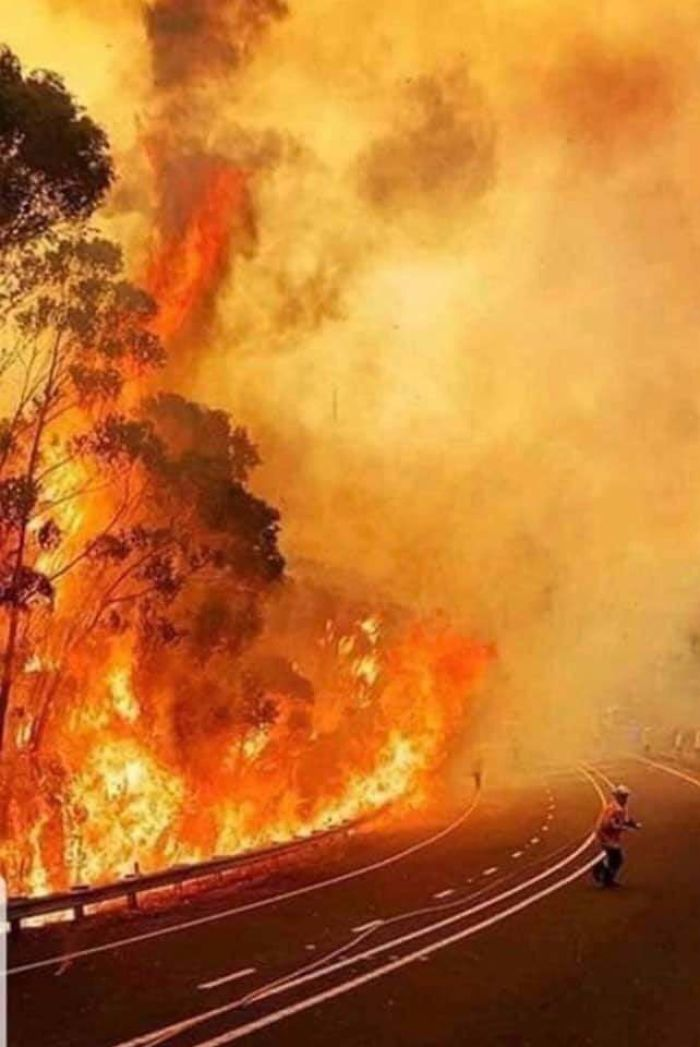 Hell Opens Up In Australia. Thoughts Go Out To Our Brave Fire Fighters