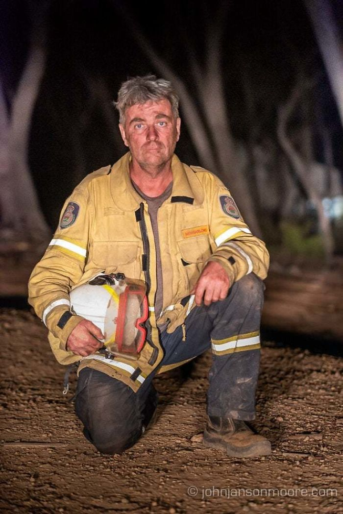 My Uncle At The End Of A 13 Hour Shift Volunteering With Nsw Rfs