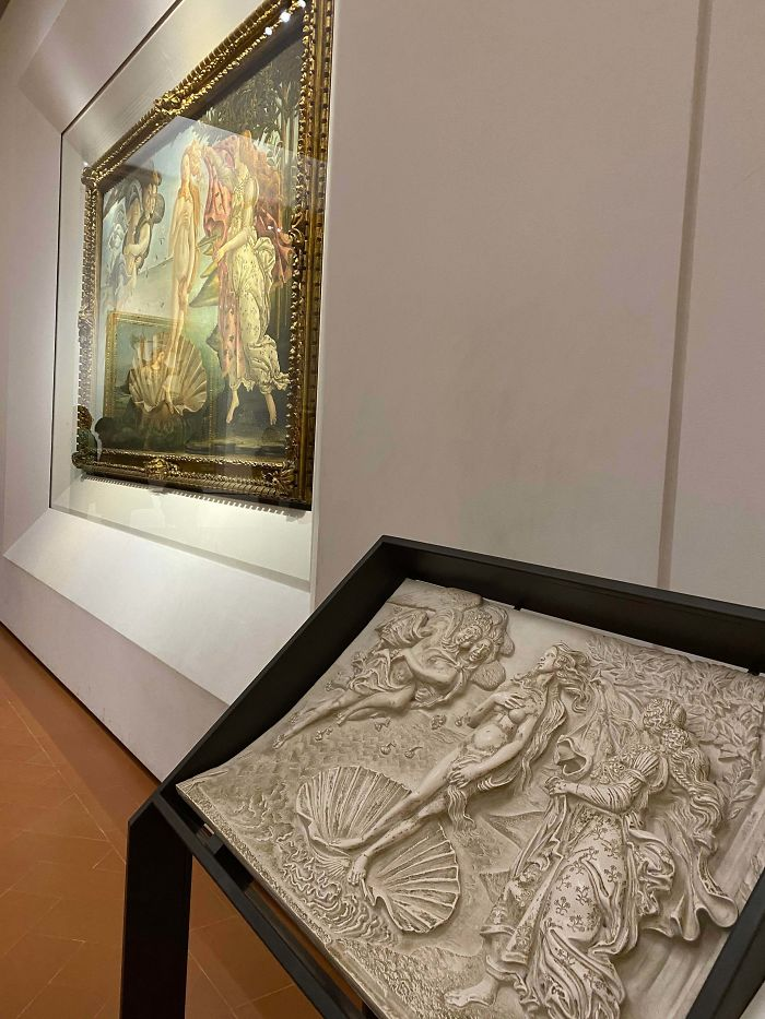 At The Uffizi Gallery In Florence, They Have Versions Of Paintings So That Blind And Visually Impaired Visitors Could Still Enjoy The Art