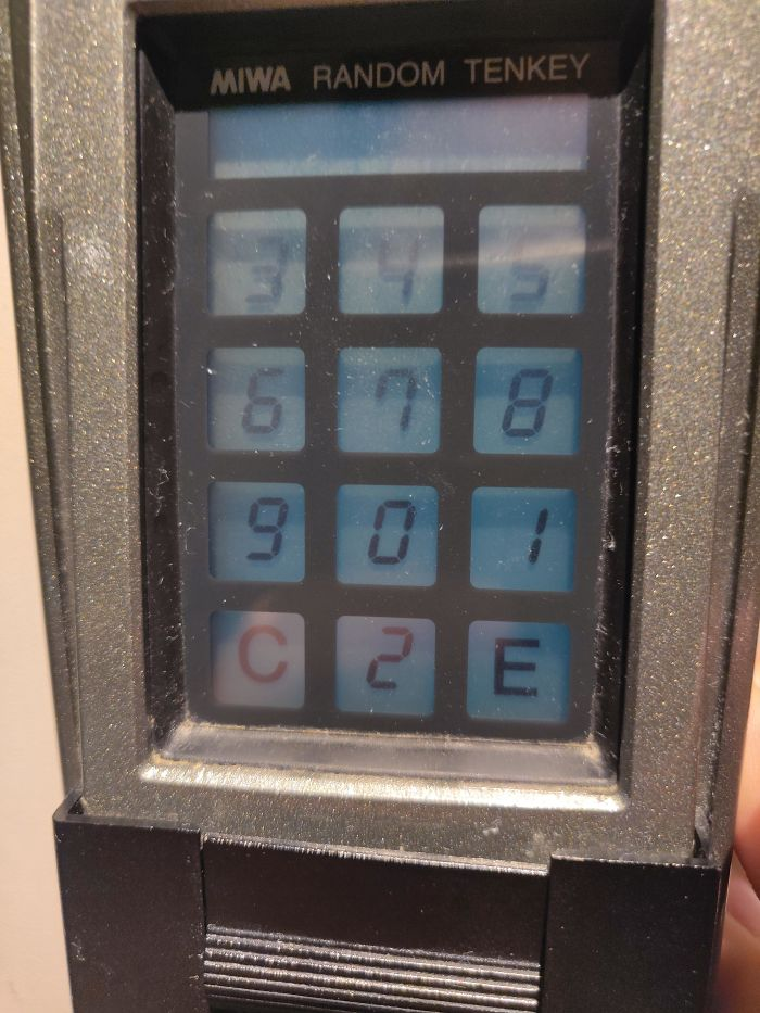 This Keypad Randomizes The Numbers Every Time So Someone Doesn't Figure Out The Password From Your Hand Movements