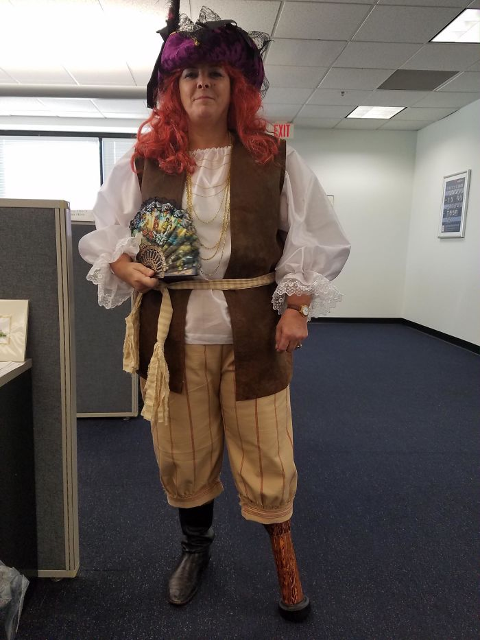 My Co-Worker Is An Amputee. This Was Her Costume