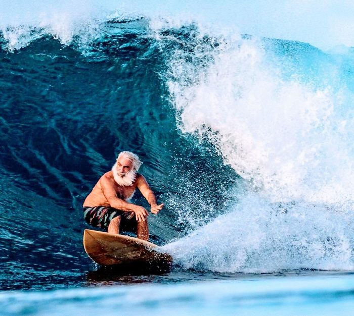 My 60-Year-Old Uncle Shredding In Kauai