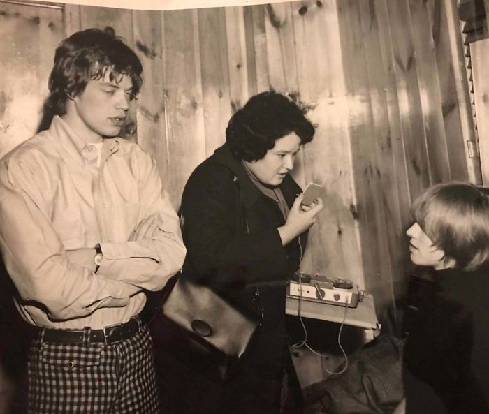 My Mom Interviewing Jagger And Brian Jones For Tiger Beat Magazine In The Late 1960's