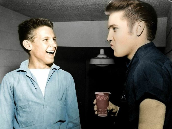 My Grandfather With Elvis Presley. 1950's