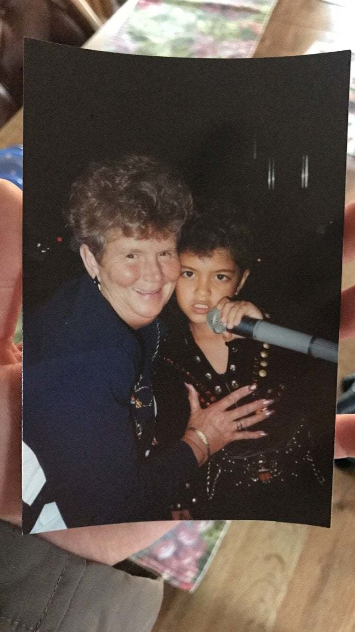 My Grandma Always Used To Tell Us About This Kid That Would Sing At The Resort On Her Vacations In Hawaii. Turns Out That Kid Was Bruno Mars. 1990