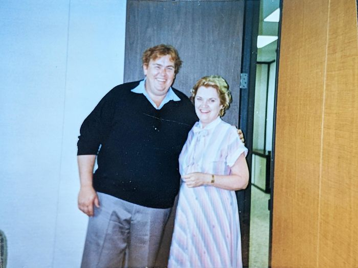 My Grandmother And 'Big John' Candy. She Was A Secretary For The Accounting Firm That Handled His Finances. August 1988