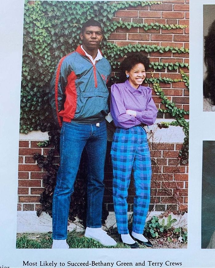 Terry Crews And His Classmate, Voted Most Likely To Succeed In His Yearbook (1986)