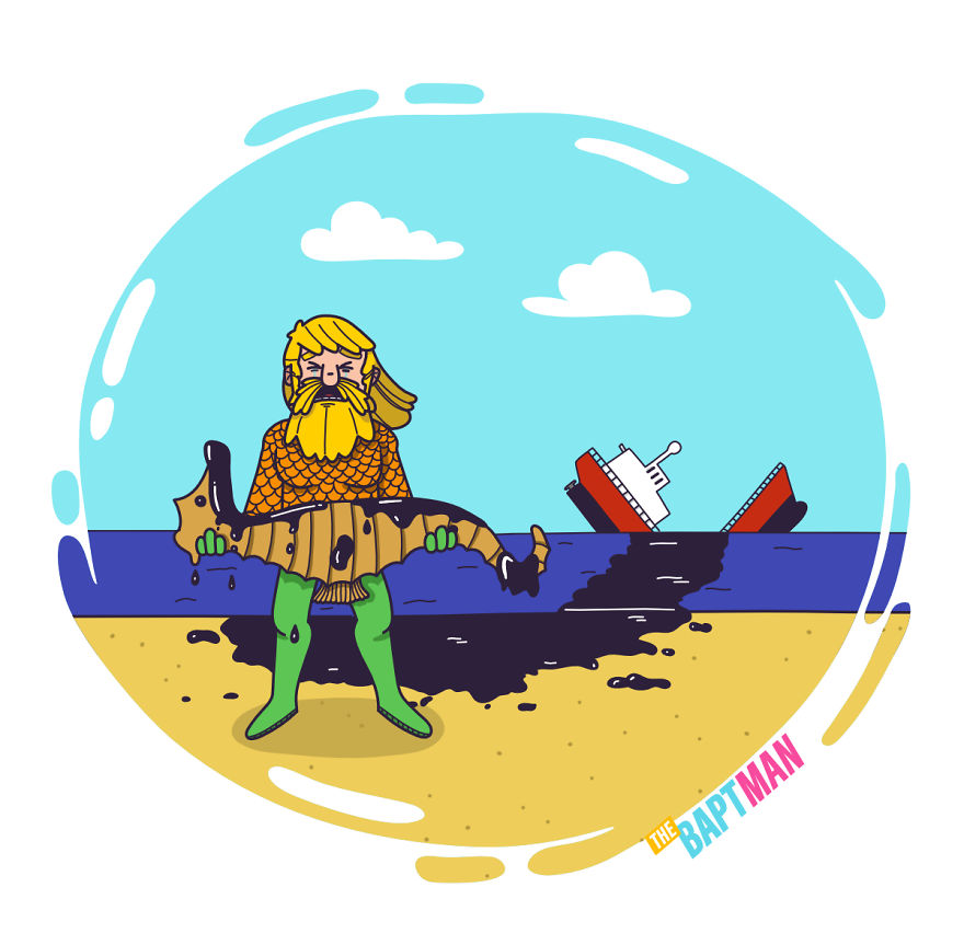 Aquaman And The Oil Spill