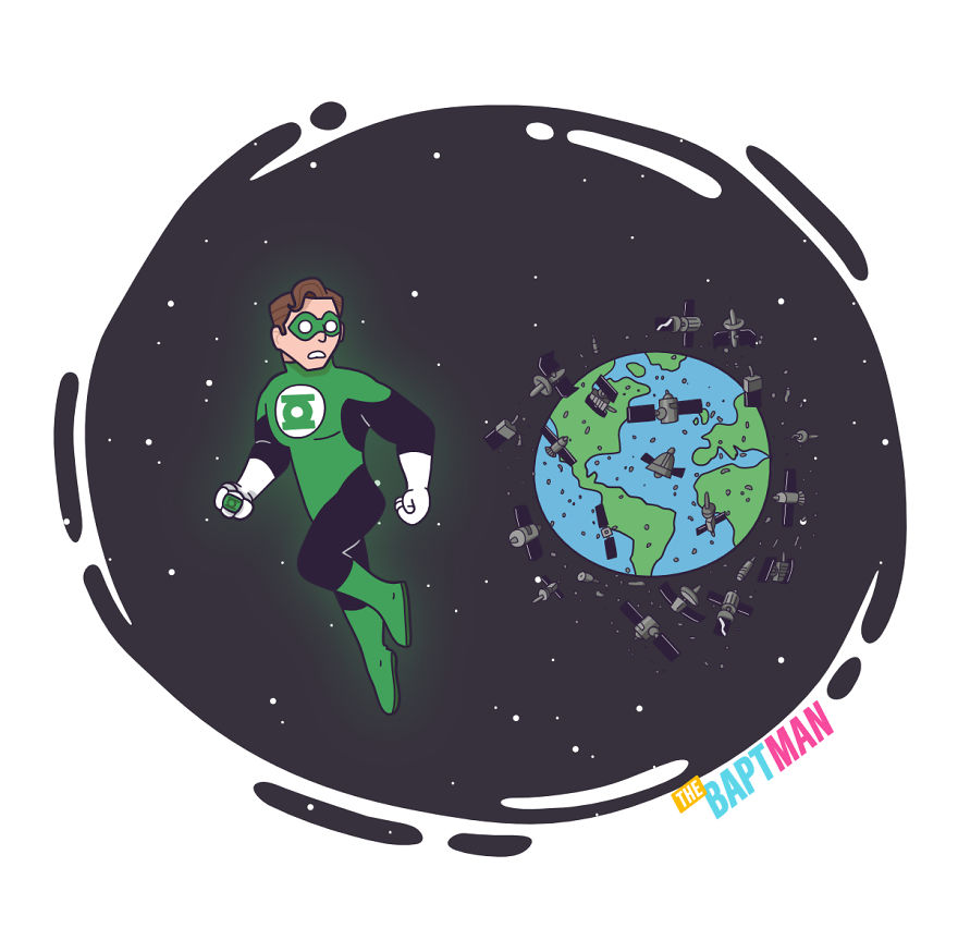 Green Lantern And Space Pollution