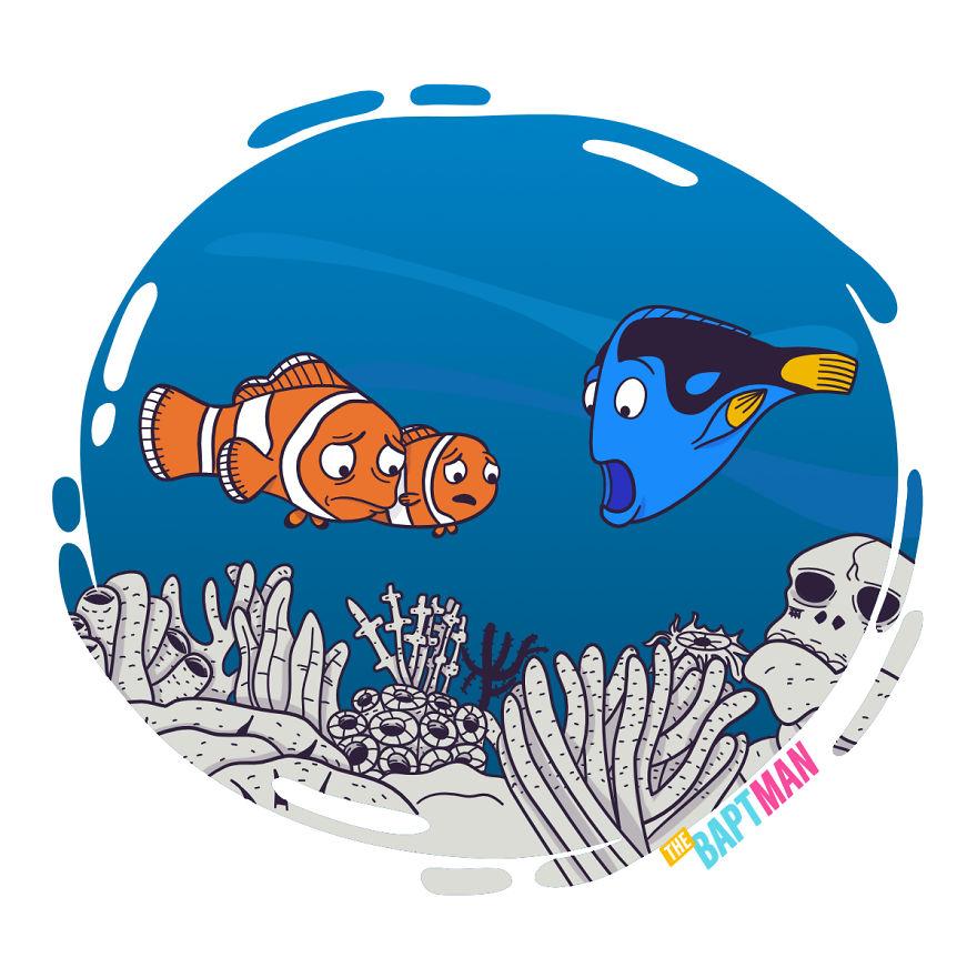 Nemo And Dead Corals