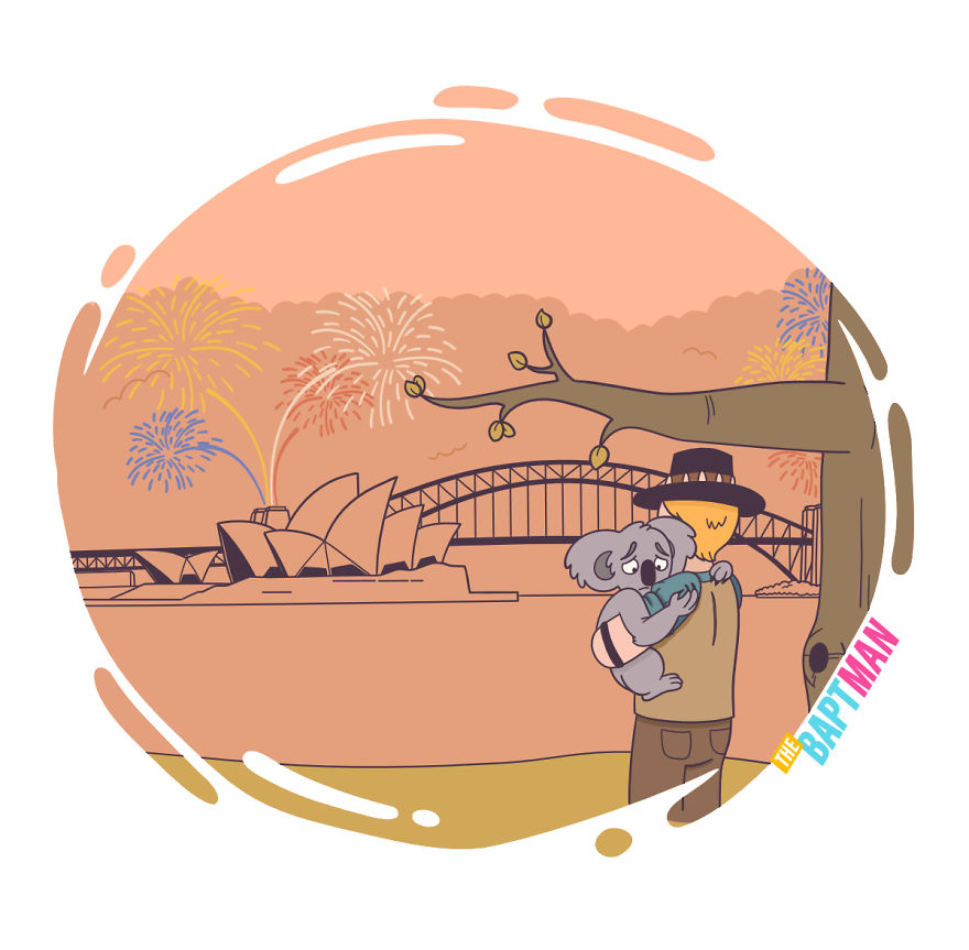 Crocodile Dundee, Australia's Bushfire And Happy New Year