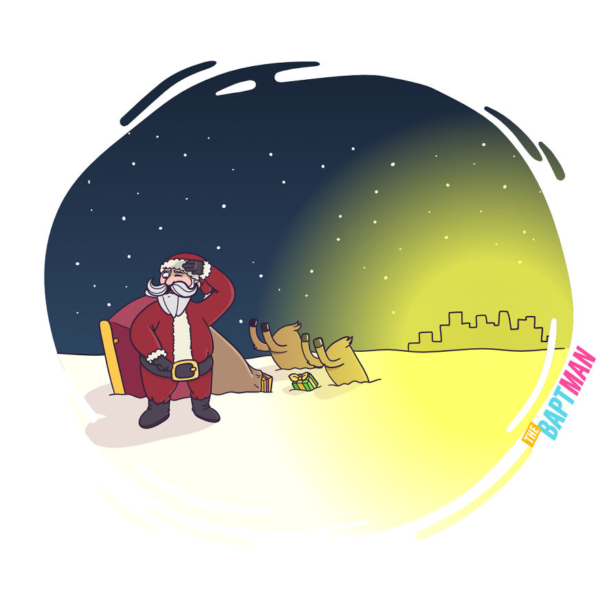 Santa Claus And Light Pollution