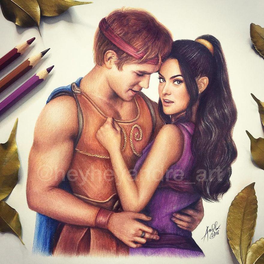 KJ Apa And Camila Mendes As Hercules And Megara