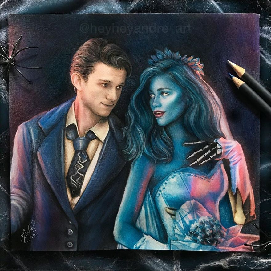 Tom Holland And Zendaya As Victor And Corpse Bride