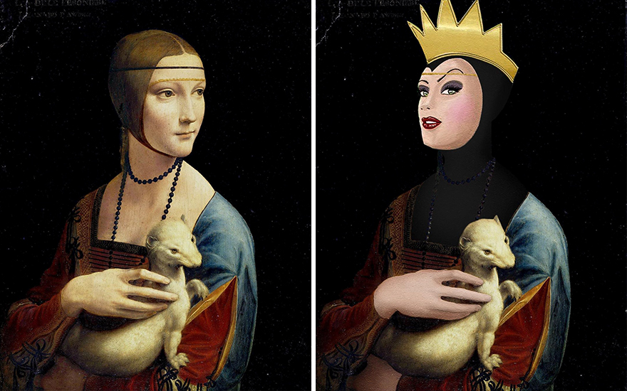Lady With An Ermine / Evil Queen From Snow White