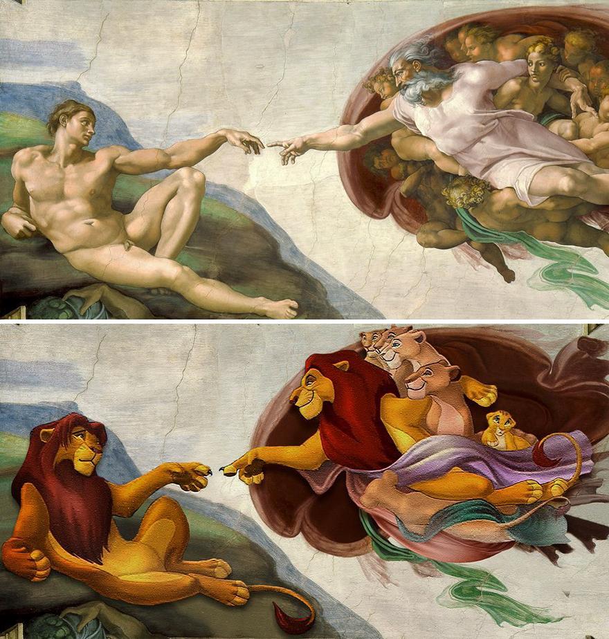 Creation Of Adam / Lion King