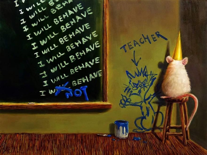 Artist Shows The Daily Life Of Mice In A Cute And Adorable Way (49 Pics)