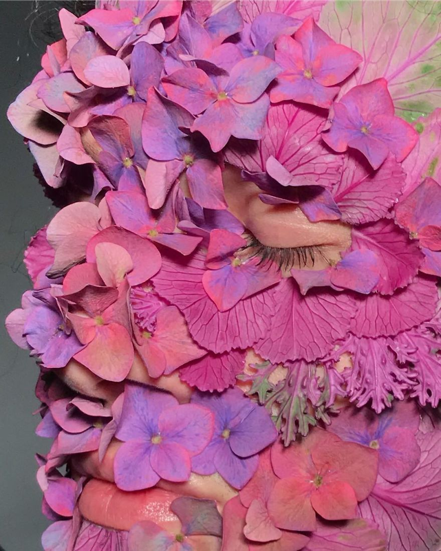 Meet The Russian Artist Who Uses Vegetables, Plants And Flowers In Makeup That Will Impress You
