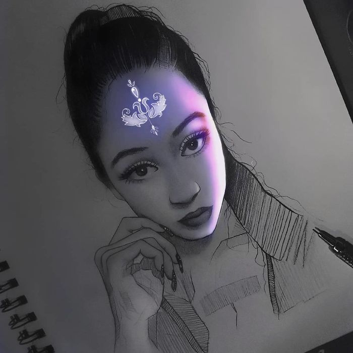 Pencil-Drawings-Glow-Enrique-Bernal