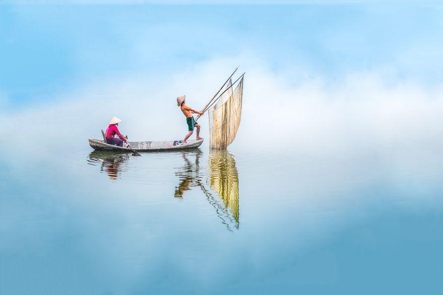 Fishing On Dong Mo Lake