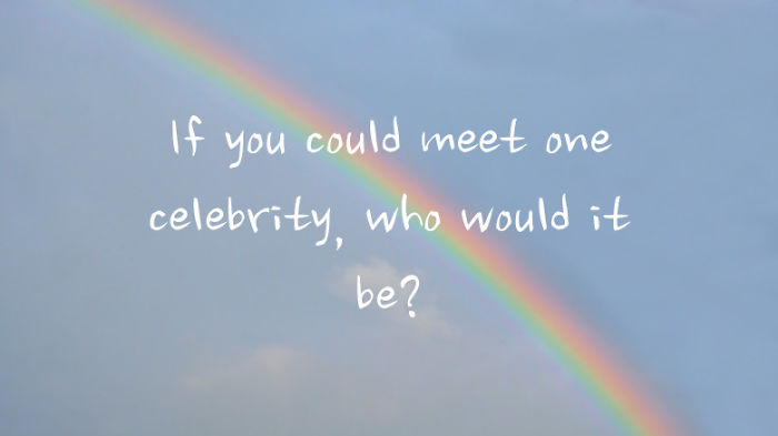 If You Could Meet One Celebrity, Who Would It Be?