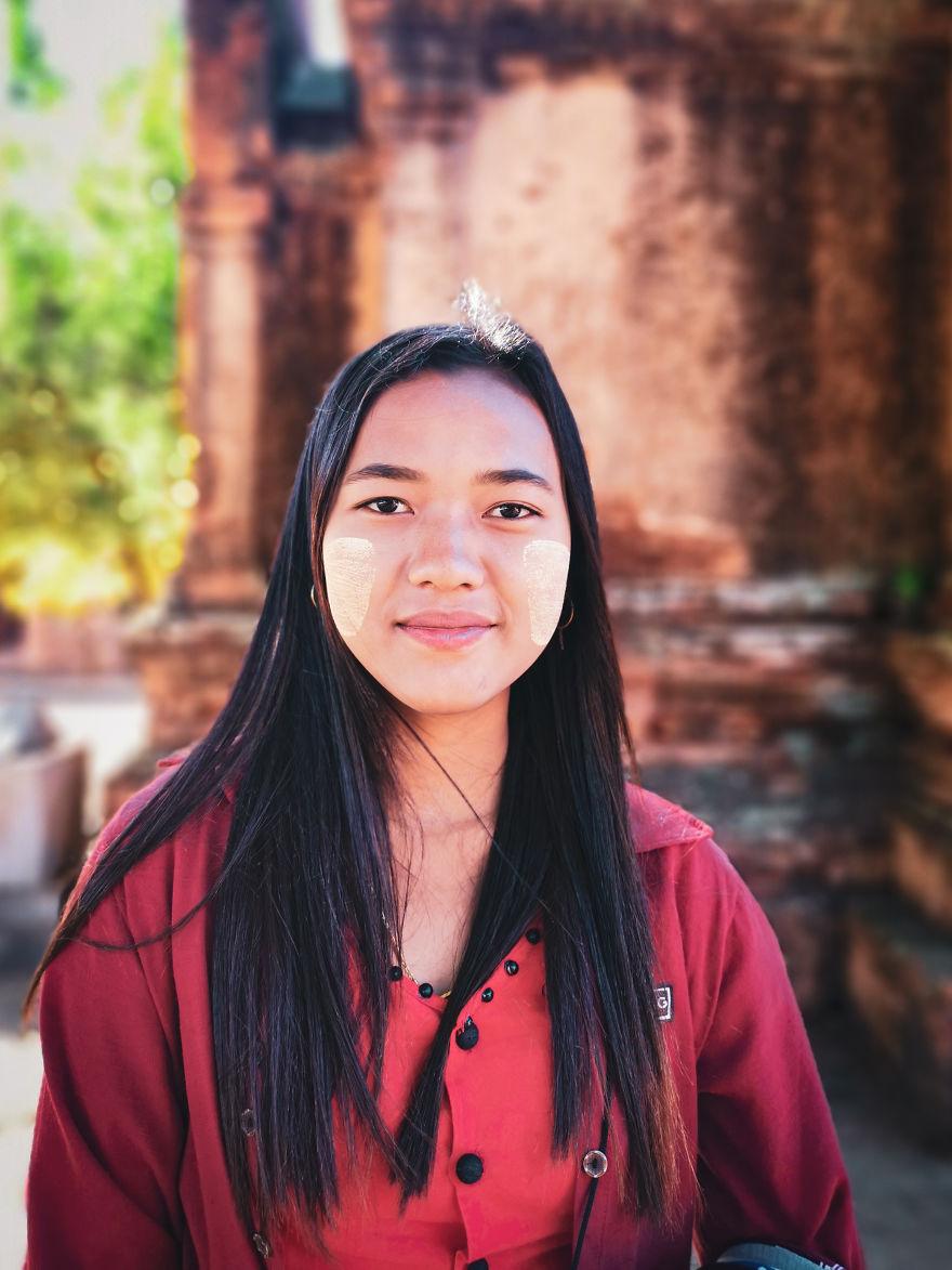 Girl With Thanaka
