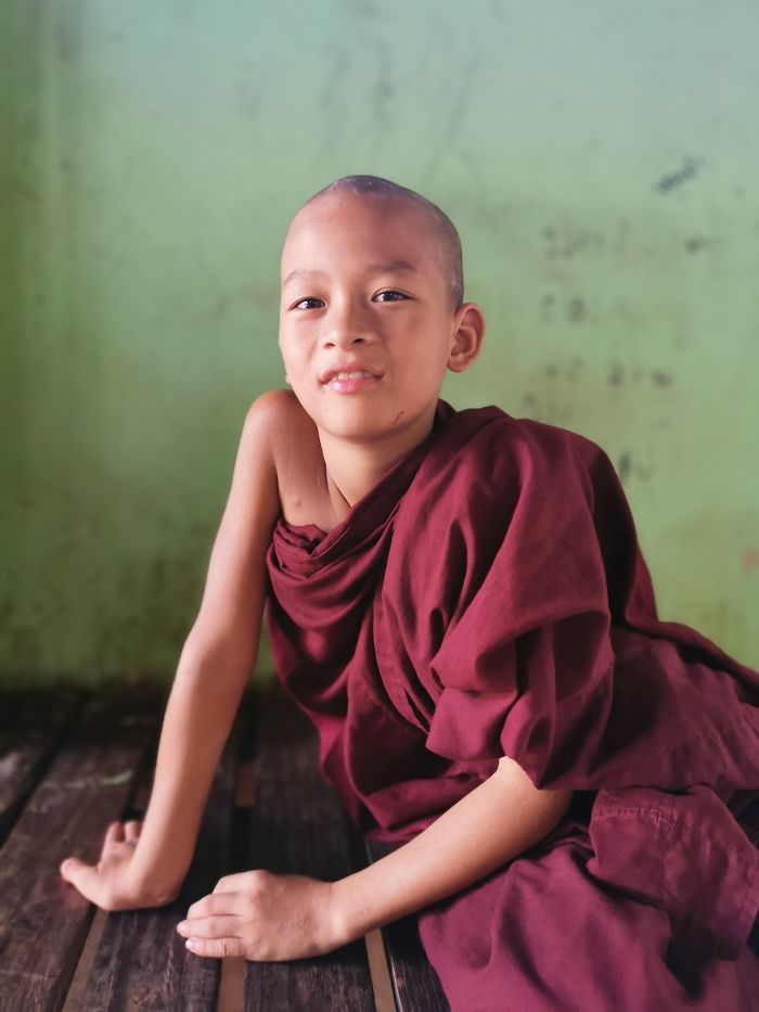 A Boy In A Temple