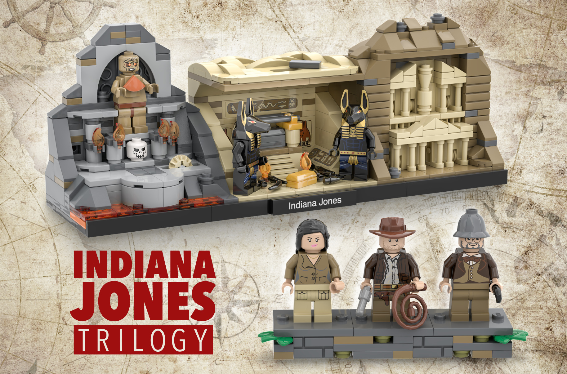I Designed An Indiana Jones LEGO Tribute