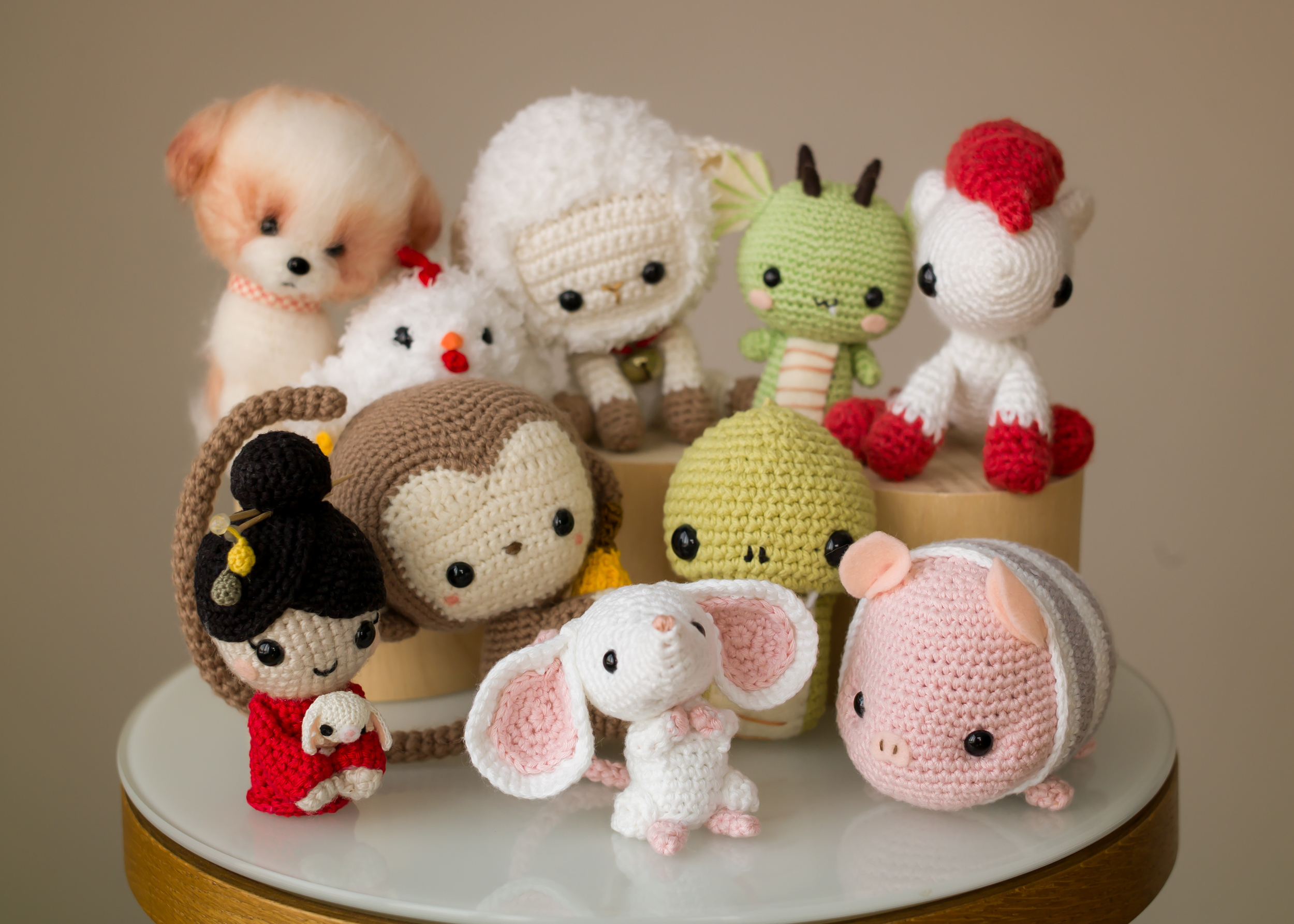 I Design And Crochet Stuffed Animals To Celebrate Chinese New Year!