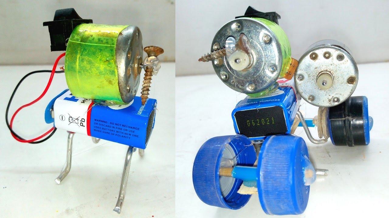 Motor Car / How To Make A Powered Car Very Simple / DIY Electric Mini Car