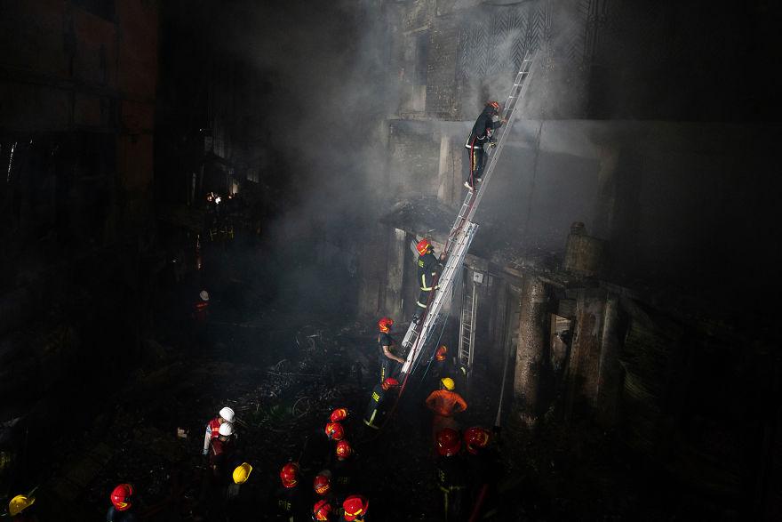 Fire At Chawkbazar In Dhaka